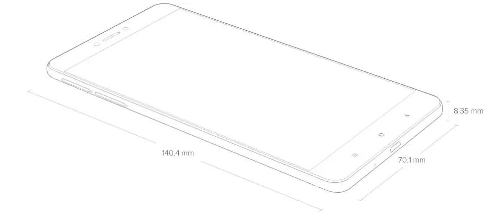Xiaomi Redmi 5A Dimensions